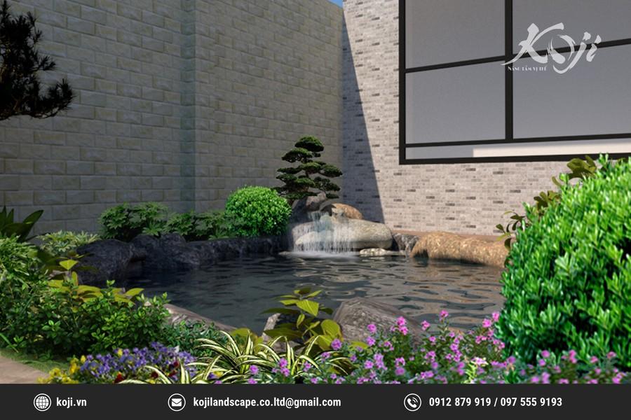 Mẫu thiết kế sân vườn 3D