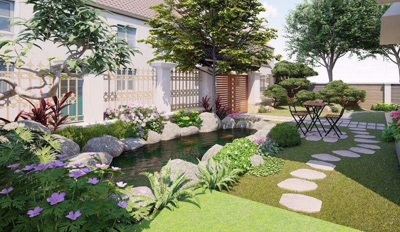 Mẫu sân vườn biệt thự đẹp