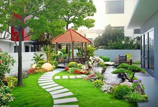 Cảnh quan sân vườn biệt thự