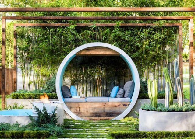 Sân vườn kết hợp các hình dạng nghệ thuật